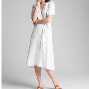 Gap white linen midi dress